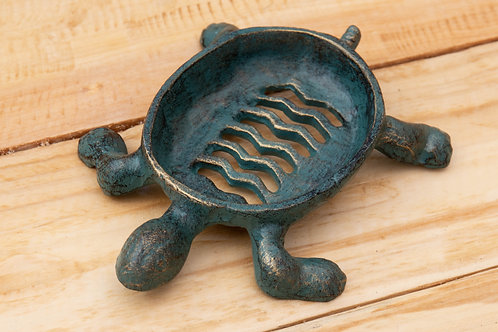 Cast Iron Turtle Soap Dish - Non Plastic Beach