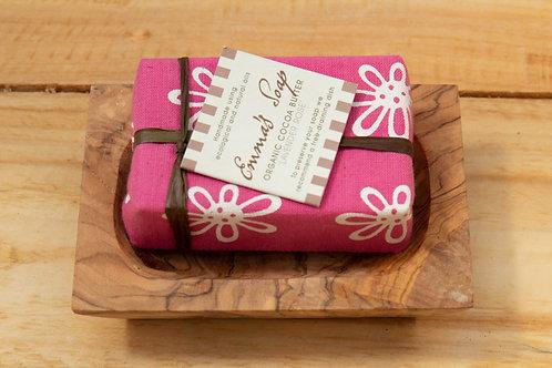 Emma's Organic Cocoa Butter Soap - Lavender Rose
