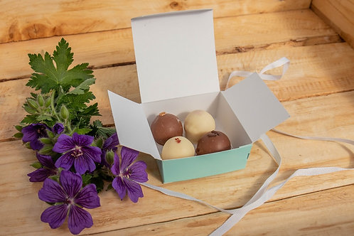 Baked By Belle - 4 Belgian  Chocolate Truffles