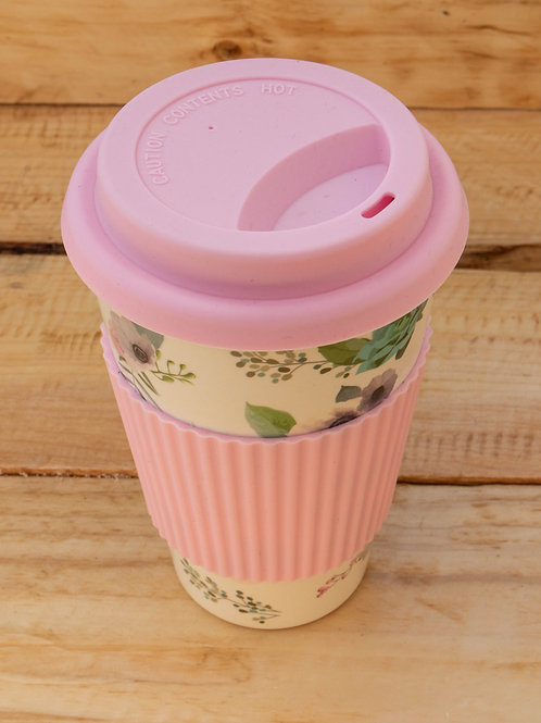 Bamboo Travel Mug - Pink