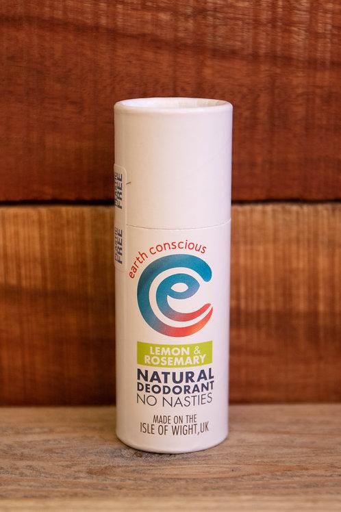 Earth Conscious - Lemon & Rosemary Natural Deodorant