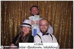Photo Booth w Gold Sequin Backdrop