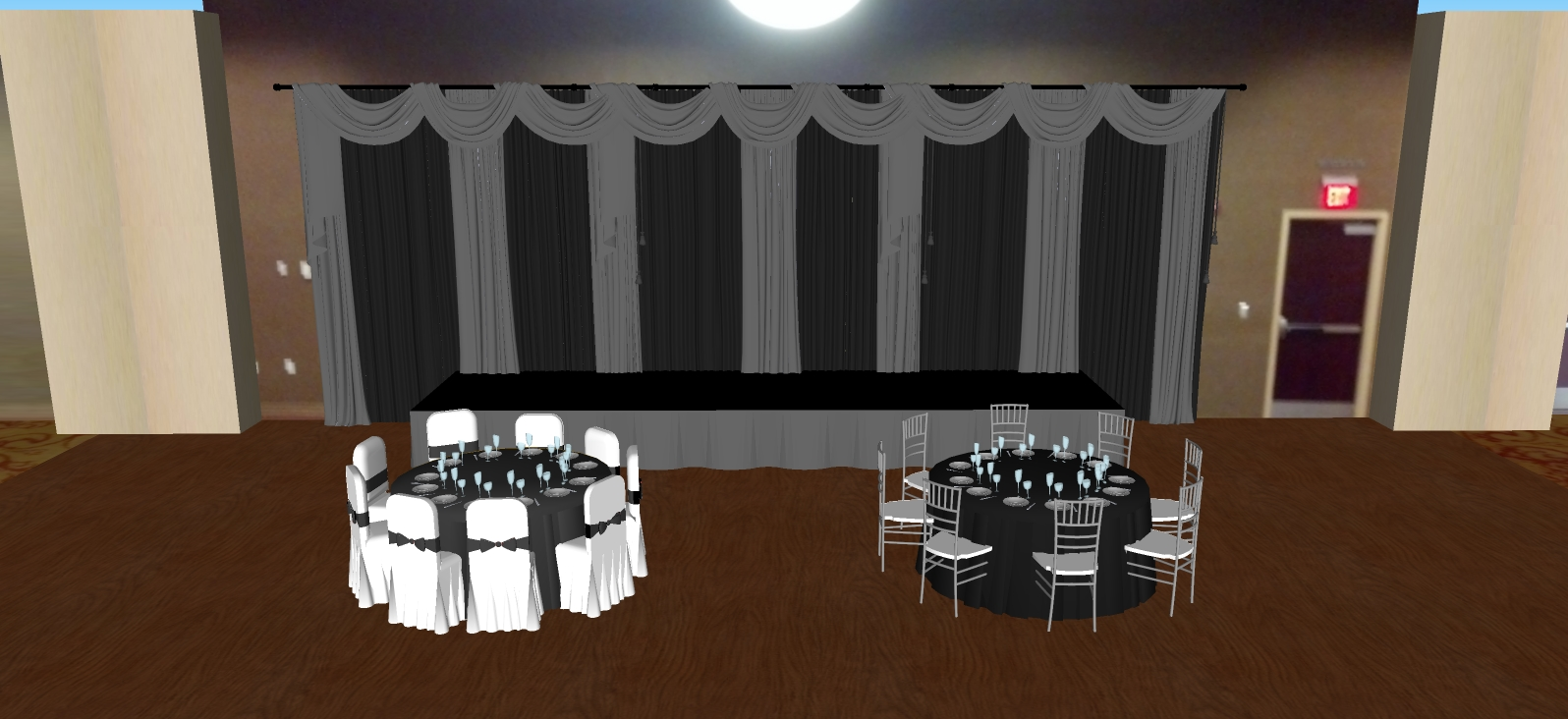 Parke Regency silver and black backdrop with 2 tables.jpg