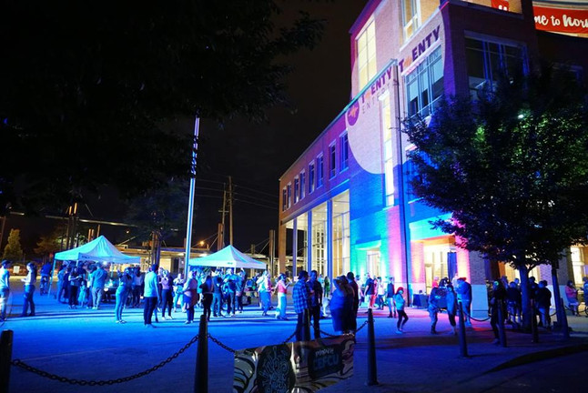 6.23.18 Outdoor Uplighting & GOBO Projection for Music Festival in Uptown Normal