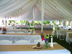 Tent, Tent Liner, Center Pole Drapes, Side Pole Drapes, Table Runner, Linen