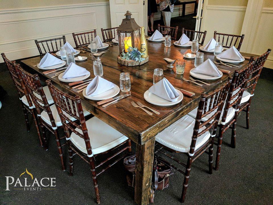 6'x6' Dark Roast Harvest Table