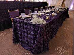 Eggplant Rosette Tablecloth