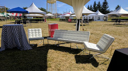 White Lounge Couch & Lounge Chair