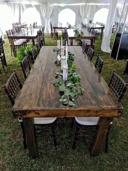 8ft Rec Dark Roast Harvest Table