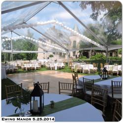 Wedding Ceremony at Ewing Manor