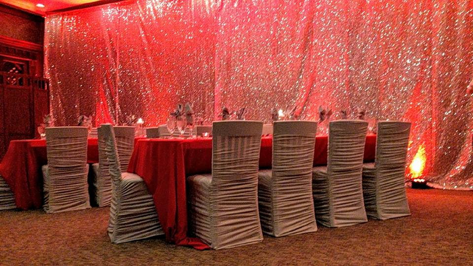 Silver Rouge Chair Cover