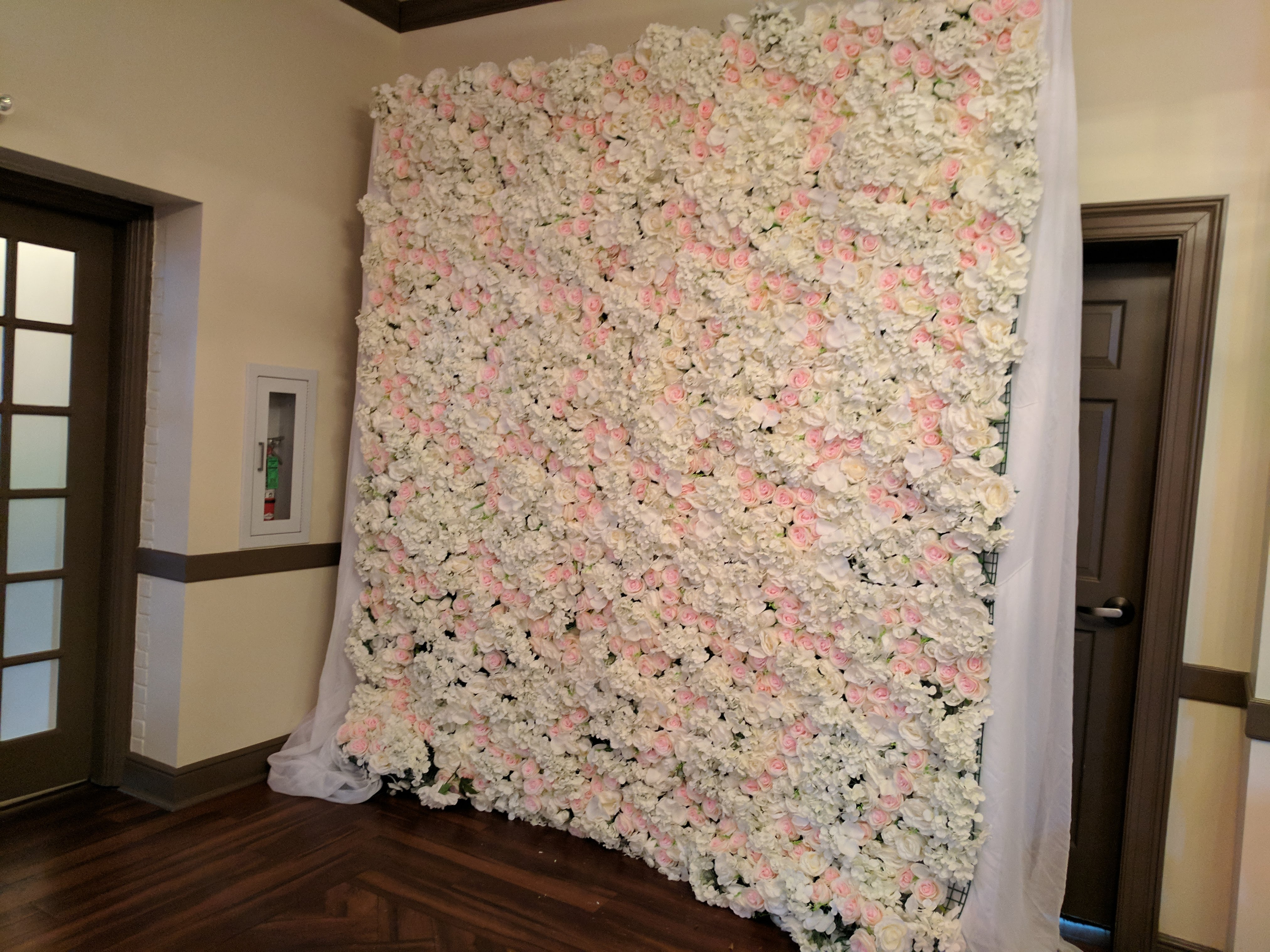 White & Pink Flower Wall
