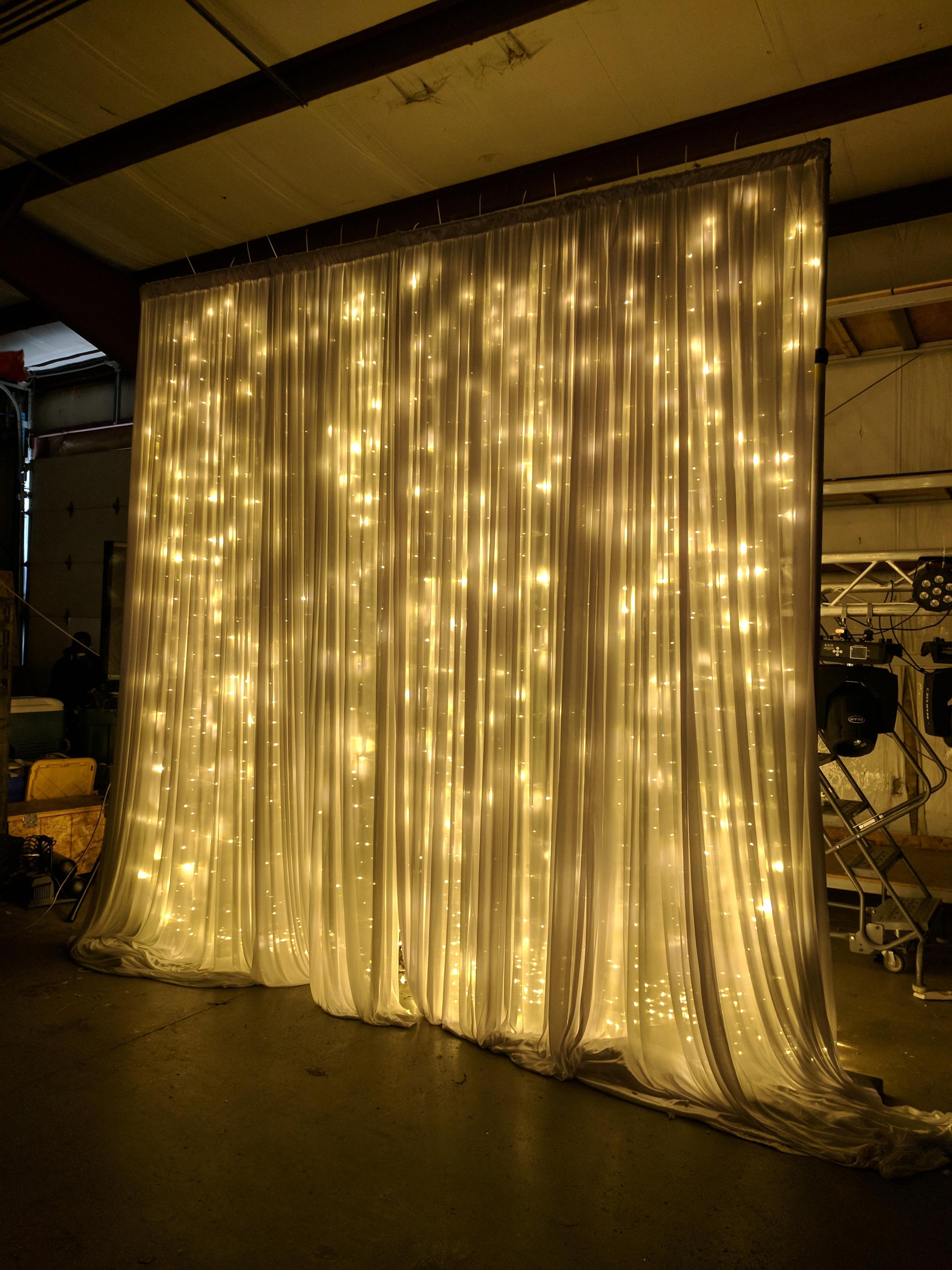 Lit Curtain Lighting