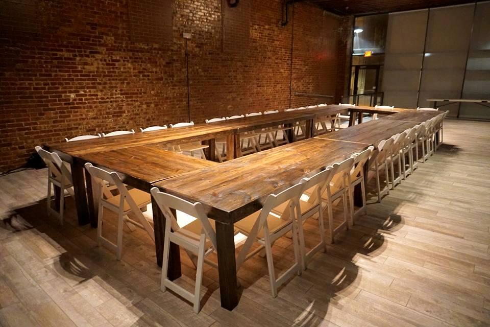 8' & 4' Dark Roast Harvest Table
