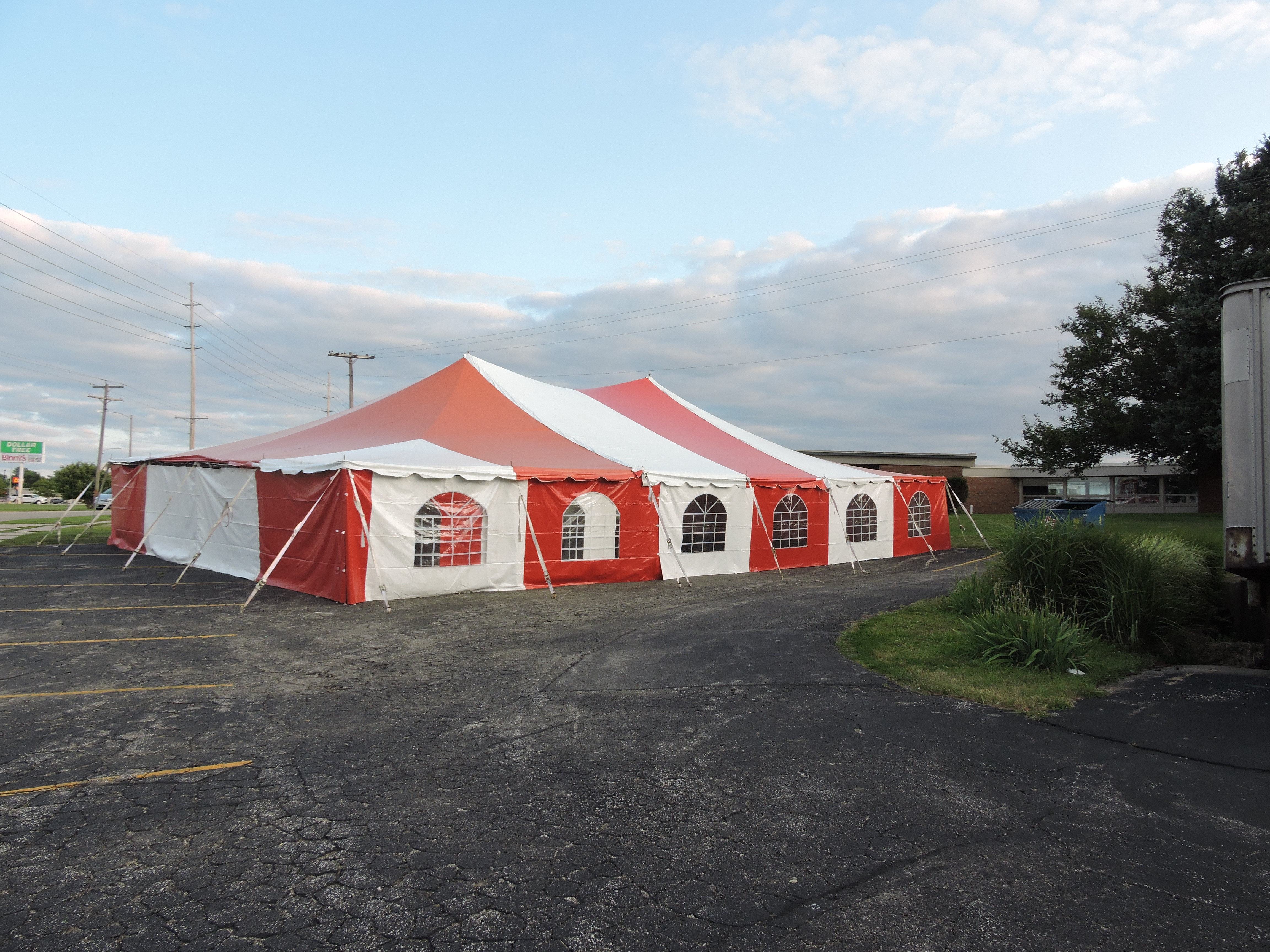 40x60 Red and White Pole Tent