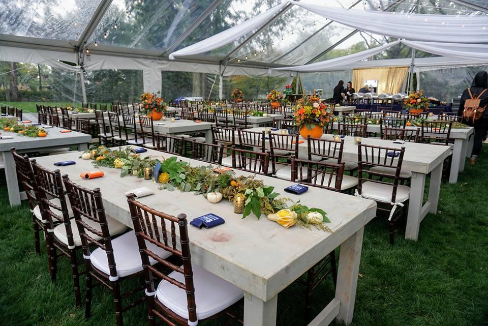 8' Sunbleached Harvest Table