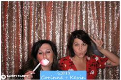 Photo Booth w Blush Sequin Backdrop