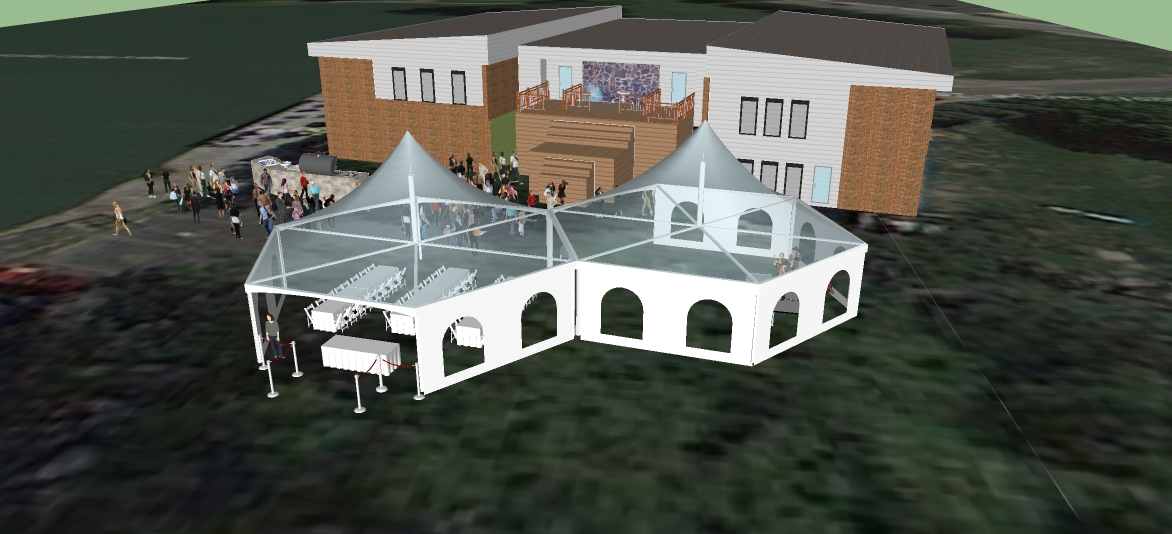 2 hexagon tent layout