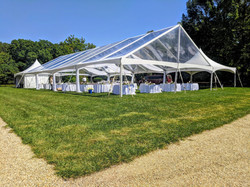 40x100 Clearspan Clear Top Tent