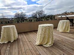 Ivory Petal Taffeta Tablecloth