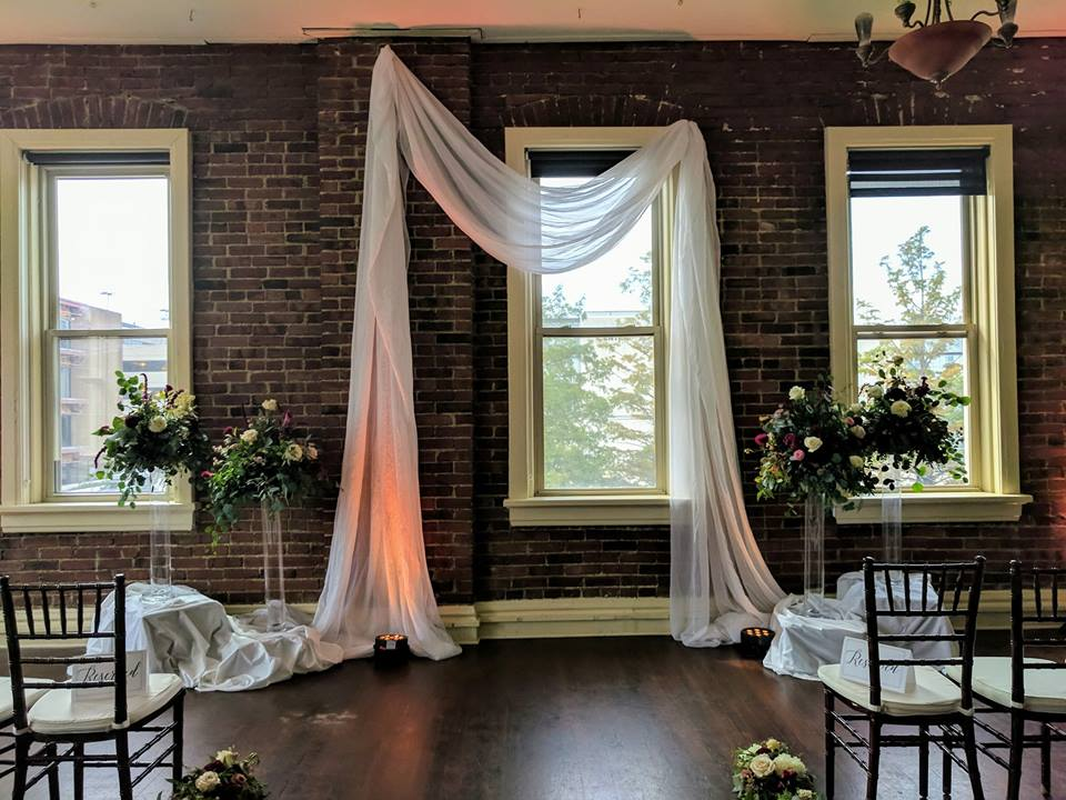 Custom White Ceremony Draping