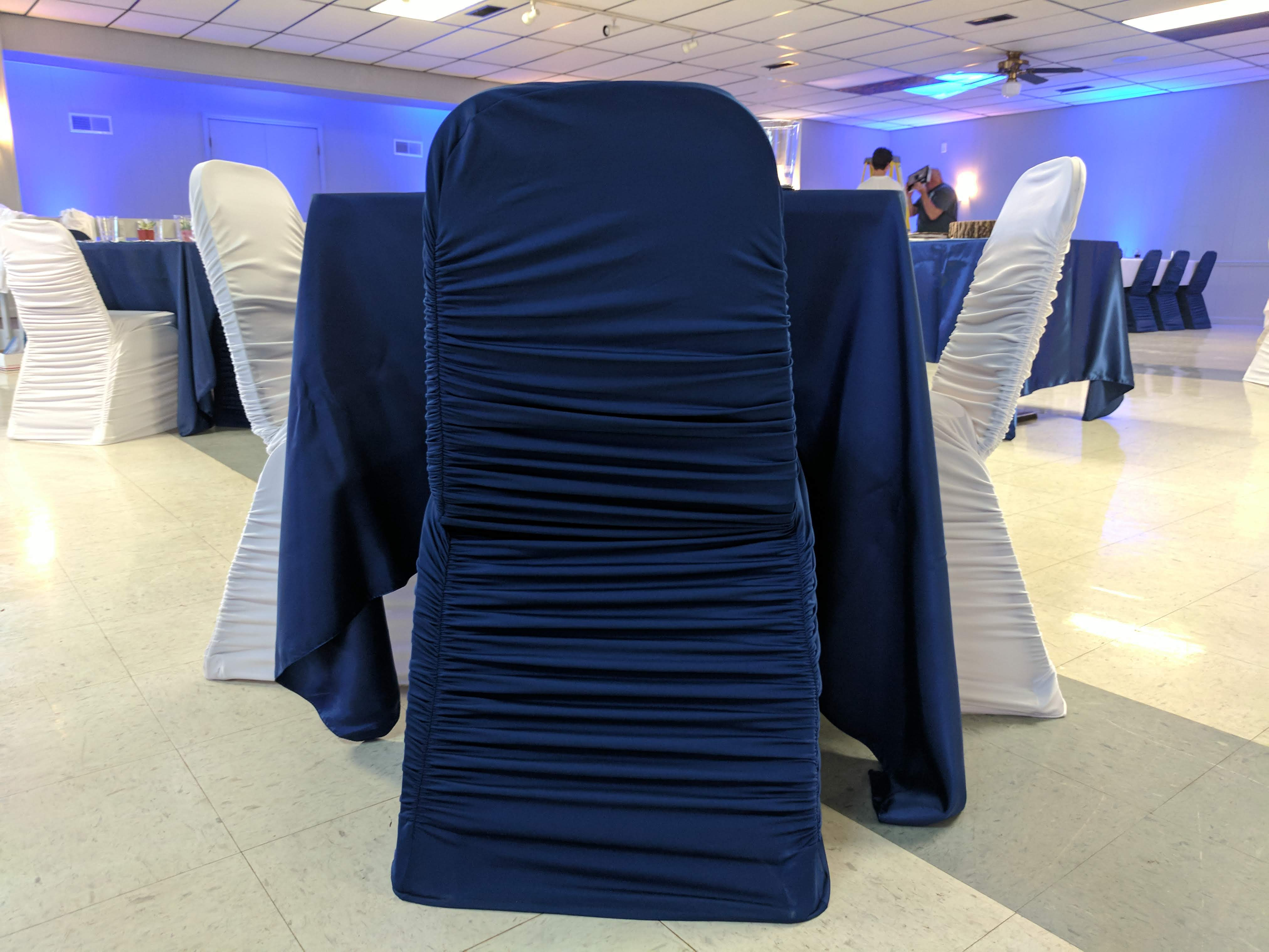Navy Rouge Chair Cover