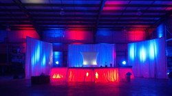Stage with Lit Stage Skirting