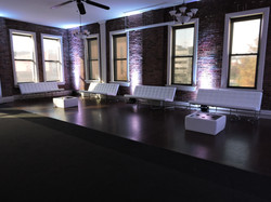 White Lounge Couch & Coffee Table