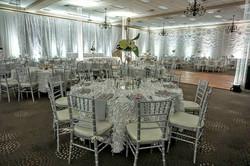White Petal Taffeta Tablecloth