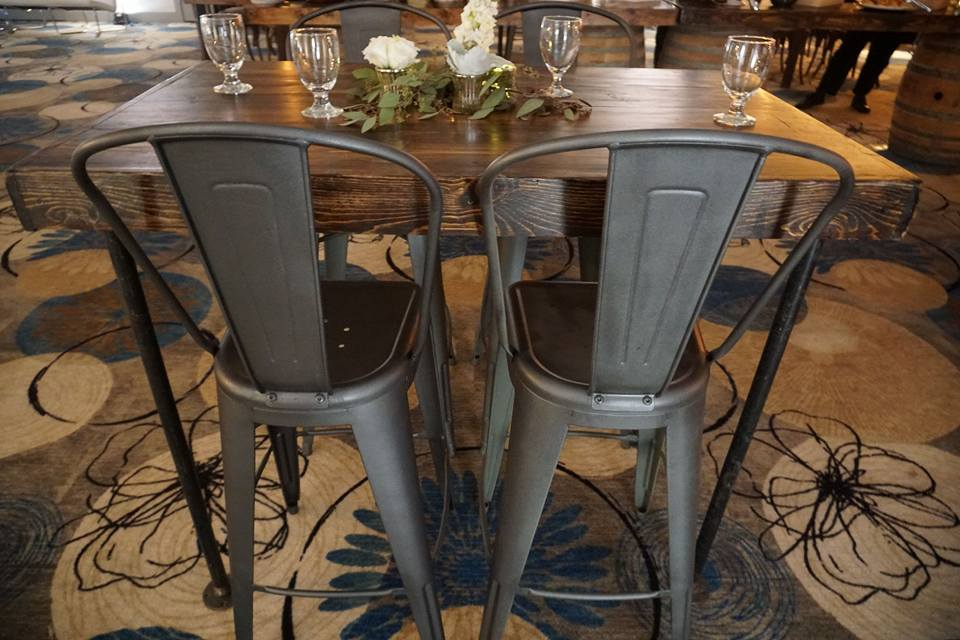 Bar Height Gunmetal Grey Elio Chair