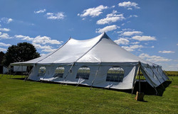 40x60 Pole Tent with Sidewalls