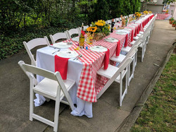 Red & White gingham Tablecloth