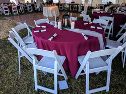 Wine Berry Polyester Tablecloth