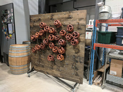 Pretzel Wall and Whiskey Barrel