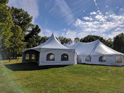 40x80 Pole Tent with Hexagon Tent