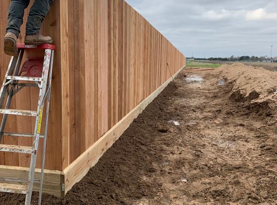 8 ft Cedar fence