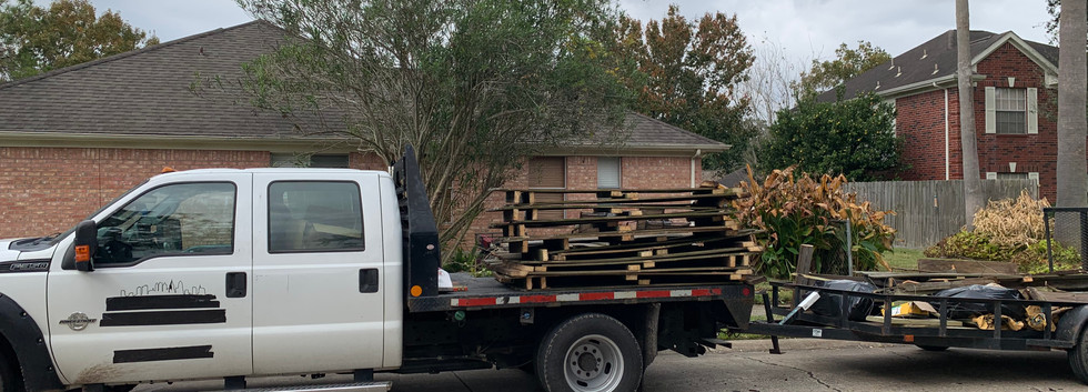 Hauling old fence to the landfill