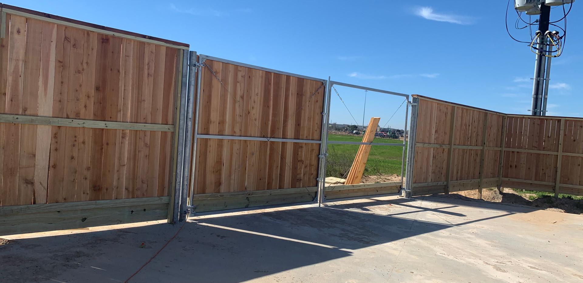 Double Singing Gates with Galvanized Frame