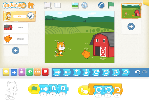 Coding With Scratch Jr.