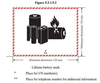 Lithium Battery Shipping Mark Label Sticker