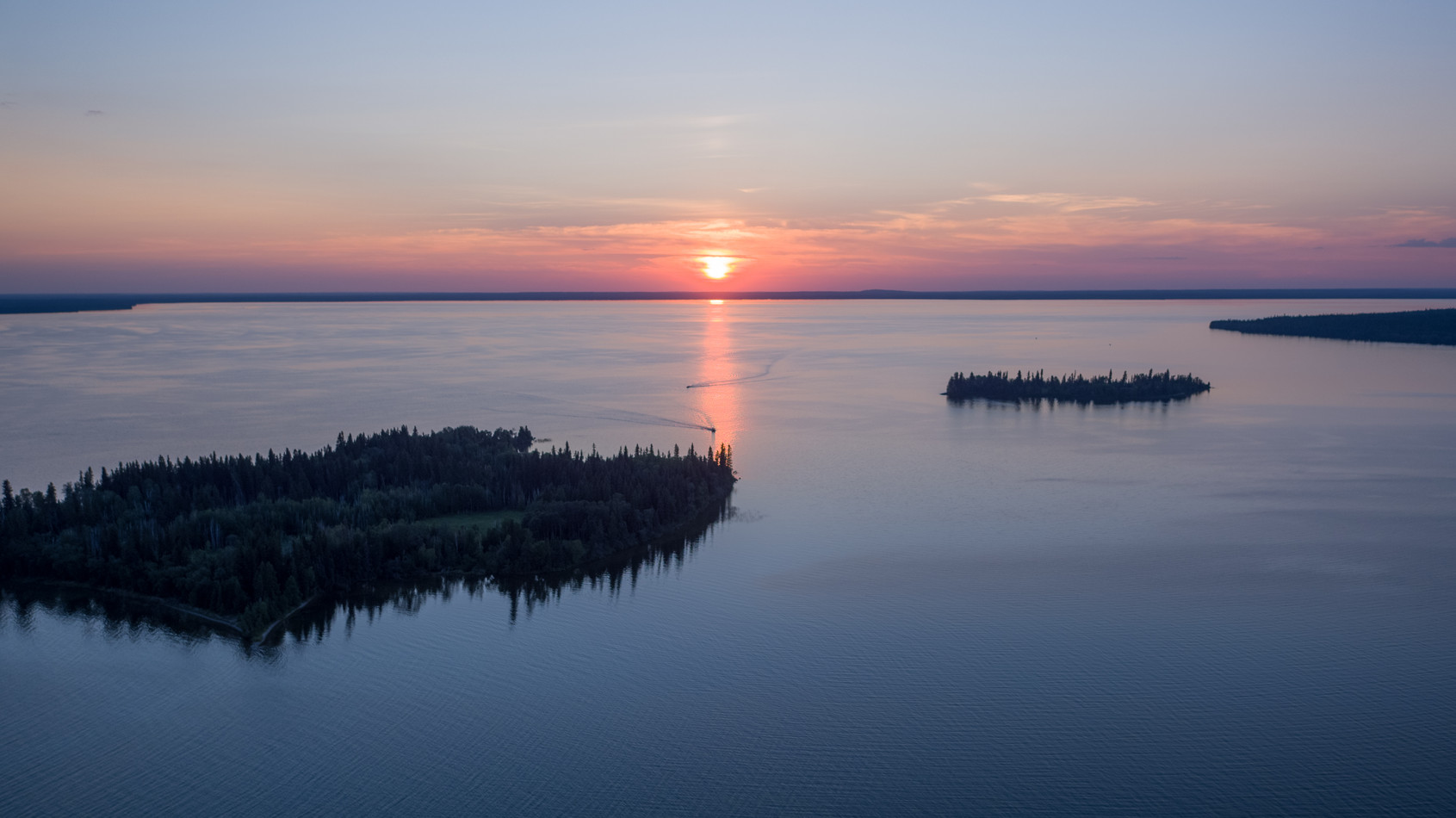 Candle Lake Islands Sunset.jpg
