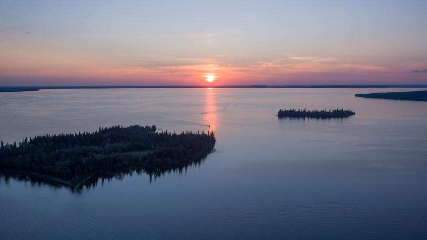 Candle Lake Islands Sunset.jpg