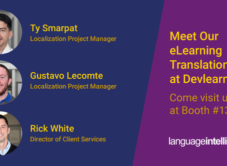 Meet Our eLearning Translation Team at DevLearn 2019
