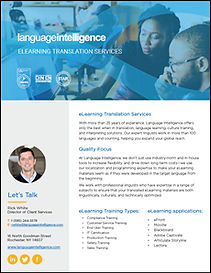 eLearning Translation Services Overview.