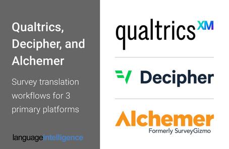 Qualtrics, Decipher, and Alchemer - Translation Process for 3 Platforms