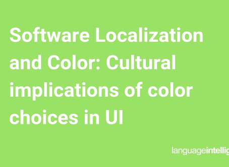 Software Localization and Color: Cultural implications of color choices in UI