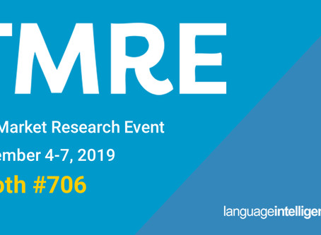 Stop and See Us At TMRE: The Market Research Event in November!