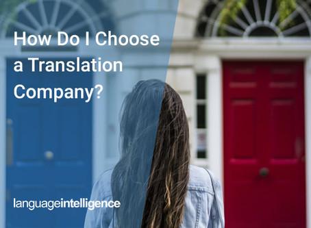 How Do I Choose a Translation Company?