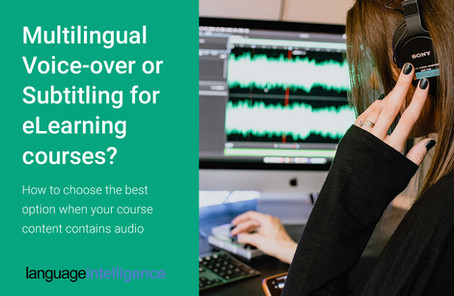 Multilingual Voice-Over & Subtitling for eLearning Courses