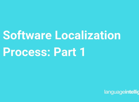 Software Localization Process: Part 1 Preparation